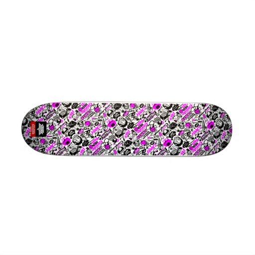 CrazyCombo White Skate Deck