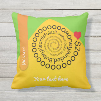 Crazydeal p476 cool crazy creative awesome love outdoor pillow