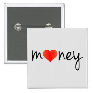 Crazydeal p593 I love money standard square button