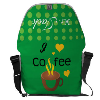 Crazydeal p610 I love coffee cool messenger bag