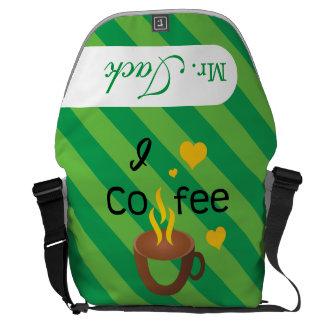 Crazydeal p612 I love coffee cool messenger bag