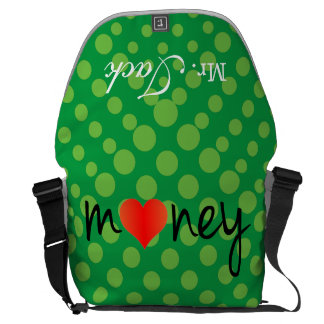 Crazydeal p620 I love money super crazy and funny Commuter Bag