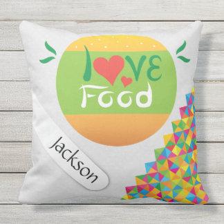 Crazydeal Z1 love food cool crazy creative design Outdoor Pillow