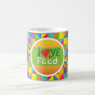 Crazydeal Z34 Love food colorful background design Coffee Mug