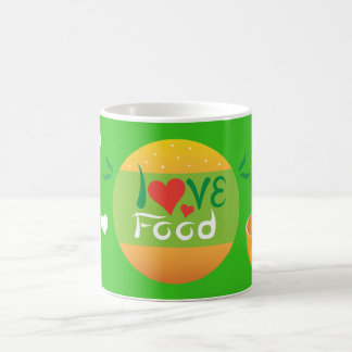 Crazydeal Z36 Love food green background design Coffee Mug