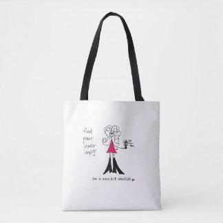 Crazyhair Imp Tote Bag - Small Image