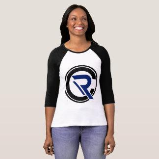CRC Women's 3/4 Sleeve Black Raglan T-Shirt