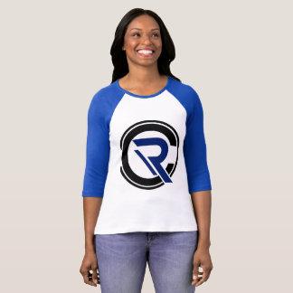 CRC Women's 3/4 Sleeve Blue Raglan T-Shirt