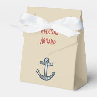 Cream Anchor Favor Box
