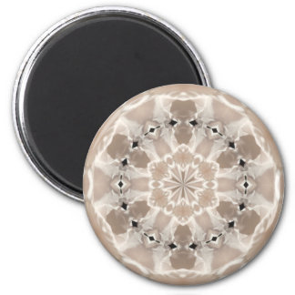 cream and beige cafe au lait abstract art 2 inch round magnet