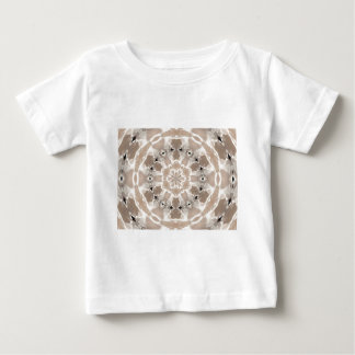cream and beige cafe au lait abstract art baby T-Shirt