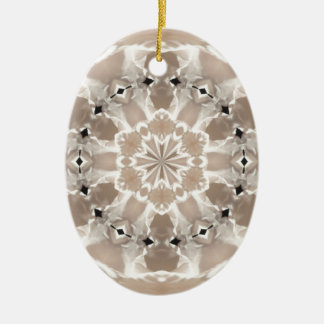 cream and beige cafe au lait abstract art ceramic ornament