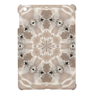 cream and beige cafe au lait abstract art iPad mini cover