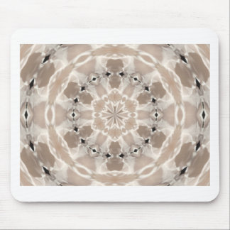 cream and beige cafe au lait abstract art mouse pad