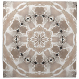 cream and beige cafe au lait abstract art napkin