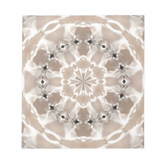 cream and beige cafe au lait abstract art notepad