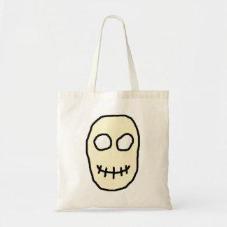 Cream and Black Skull. Primitive.