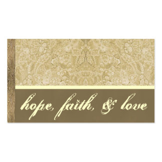 Cream and Bronze Thank You Card Business Card