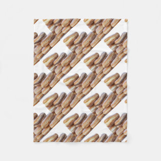 cream and chocolate donuts fleece blanket