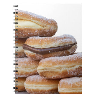 cream and chocolate donuts notebook