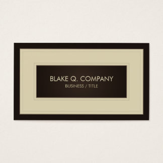 Cream and Dark Brown Elegant Business Card