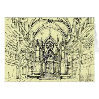Cream Angel Gothic NYC Card