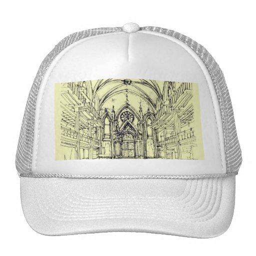 Cream Angel Gothic NYC Trucker Hat