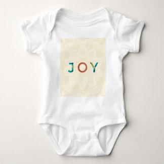 Cream Background Modern Christmas 'Joy' Baby Bodysuit