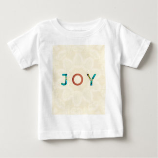 Cream Background Modern Christmas 'Joy' Baby T-Shirt