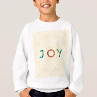 Cream Background Modern Christmas 'Joy' Sweatshirt