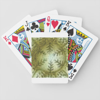 cream ball with ferns bicycle playing cards