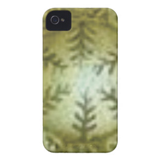 cream ball with ferns Case-Mate iPhone 4 cases