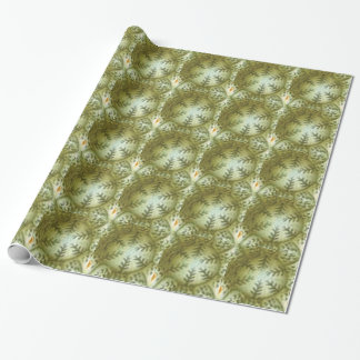 cream ball with ferns wrapping paper