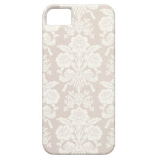 Cream/Beige Floral Damask Phone Case