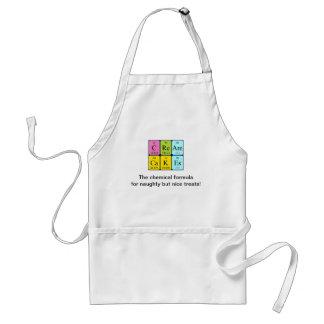 Cream Cakes periodic table phrase apron