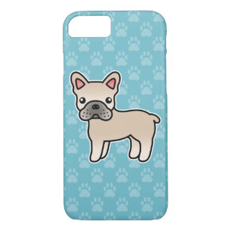 Cream Cartoon French Bulldog Case-Mate iPhone Case