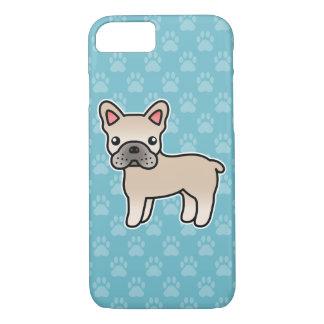 Cream Cartoon French Bulldog iPhone 8/7 Case