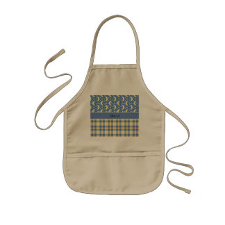 Cream Checks, Moons & Stars Kids Apron
