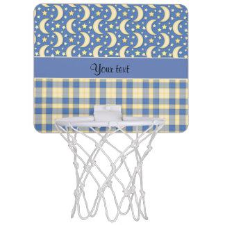 Cream Checks, Moons & Stars Mini Basketball Hoop