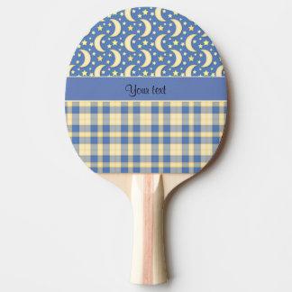 Cream Checks, Moons & Stars Ping Pong Paddle