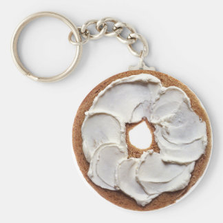 Cream Cheese Bagel Keychain