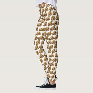 Cream Cheese Lox Capers Onions NYC Deli Bagel Food Leggings