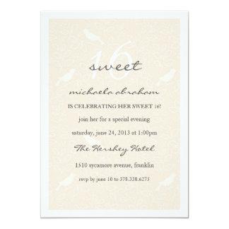 Cream Chic Sweet 16 party invitation