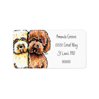 Cream Chocolate Labradoodles Label