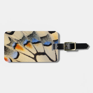 Cream color butterfly wing detail luggage tag