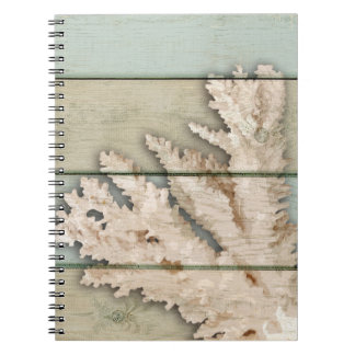 Cream Colored Coral Notebook