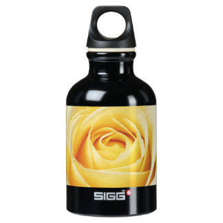 Cream Colored Rose Photography Water Bottle