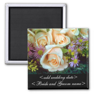 Cream Colored Roses Square Magnet