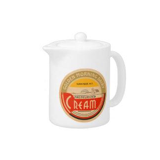Cream :: Customizable Retro Dairy Milk Bottle Cap