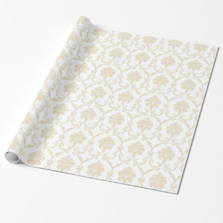 Cream Damask Wrapping Paper